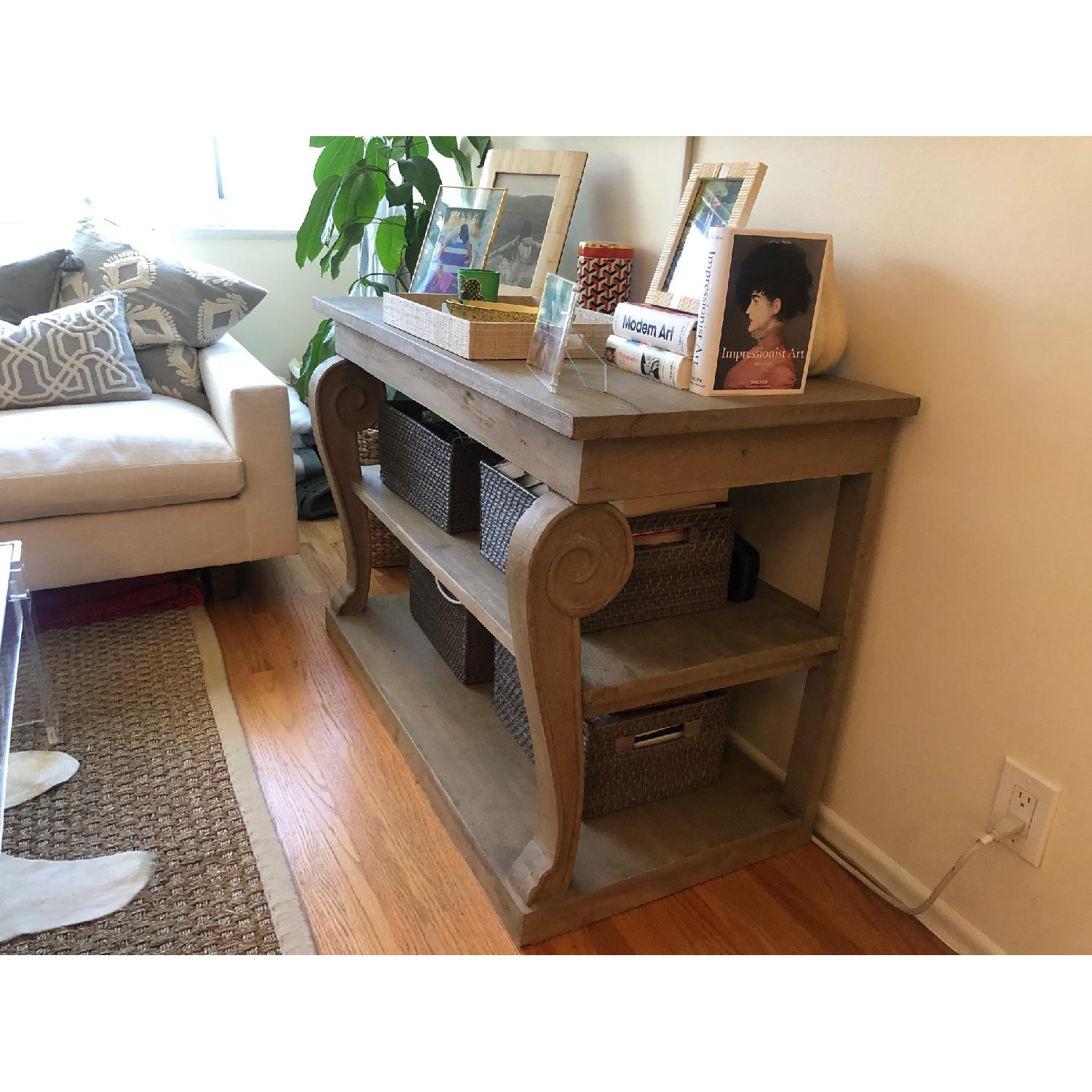 Washed Gray Wood Console Table - image-3