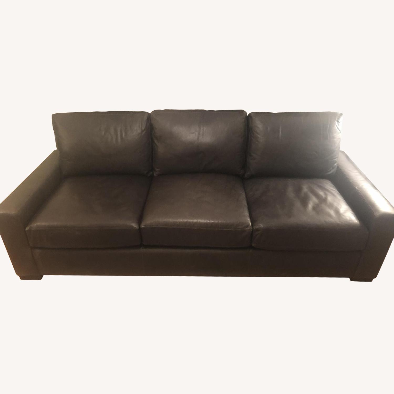 Restoration Hardware Maxwell Leather 3-Seater Sofa