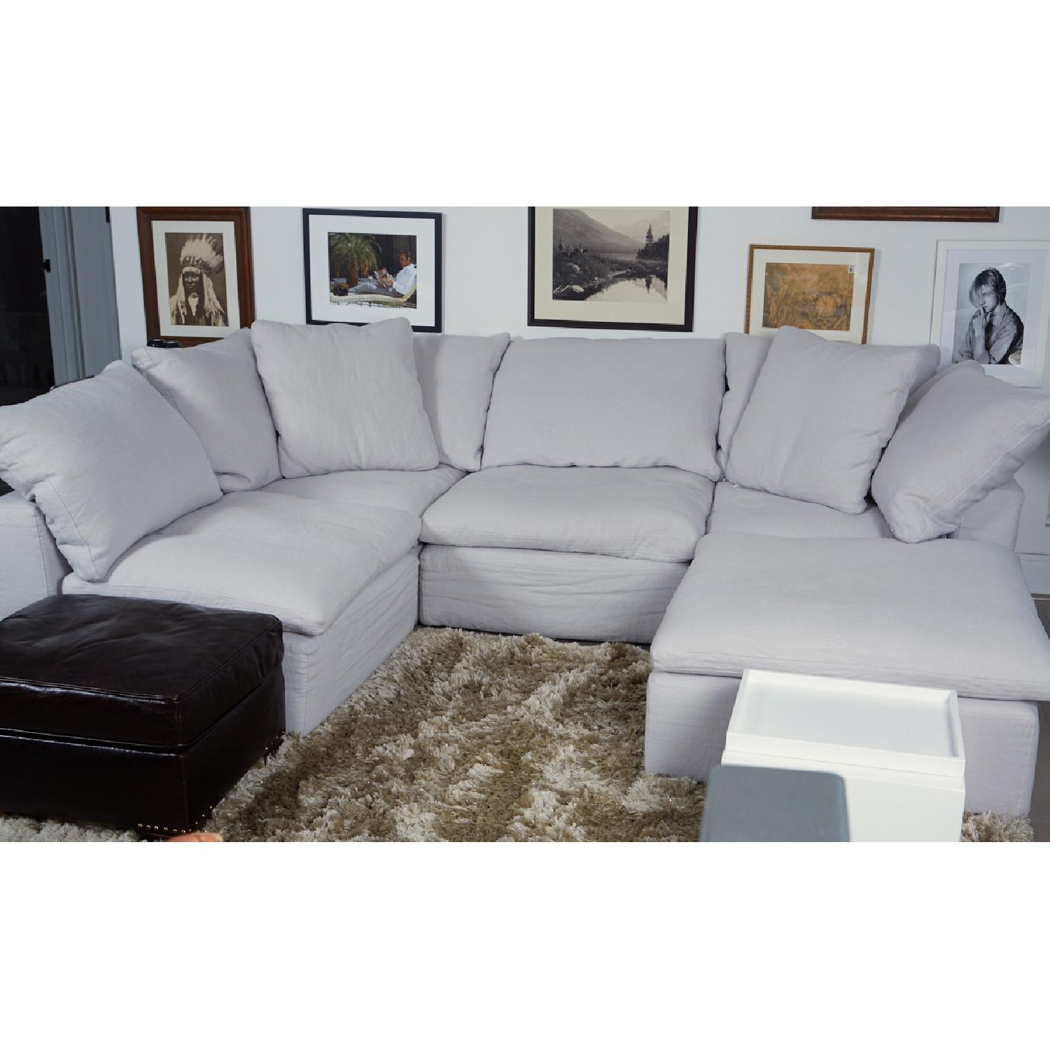 Fabulous Restoration Hardware Cloud Modular Chaise Sectional Ottoman Caraccident5 Cool Chair Designs And Ideas Caraccident5Info