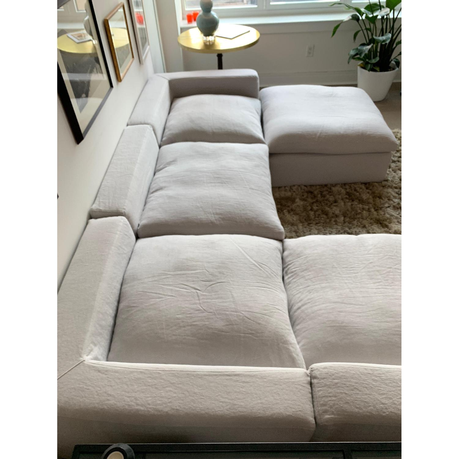 Stupendous Restoration Hardware Cloud Modular Chaise Sectional Ottoman Caraccident5 Cool Chair Designs And Ideas Caraccident5Info