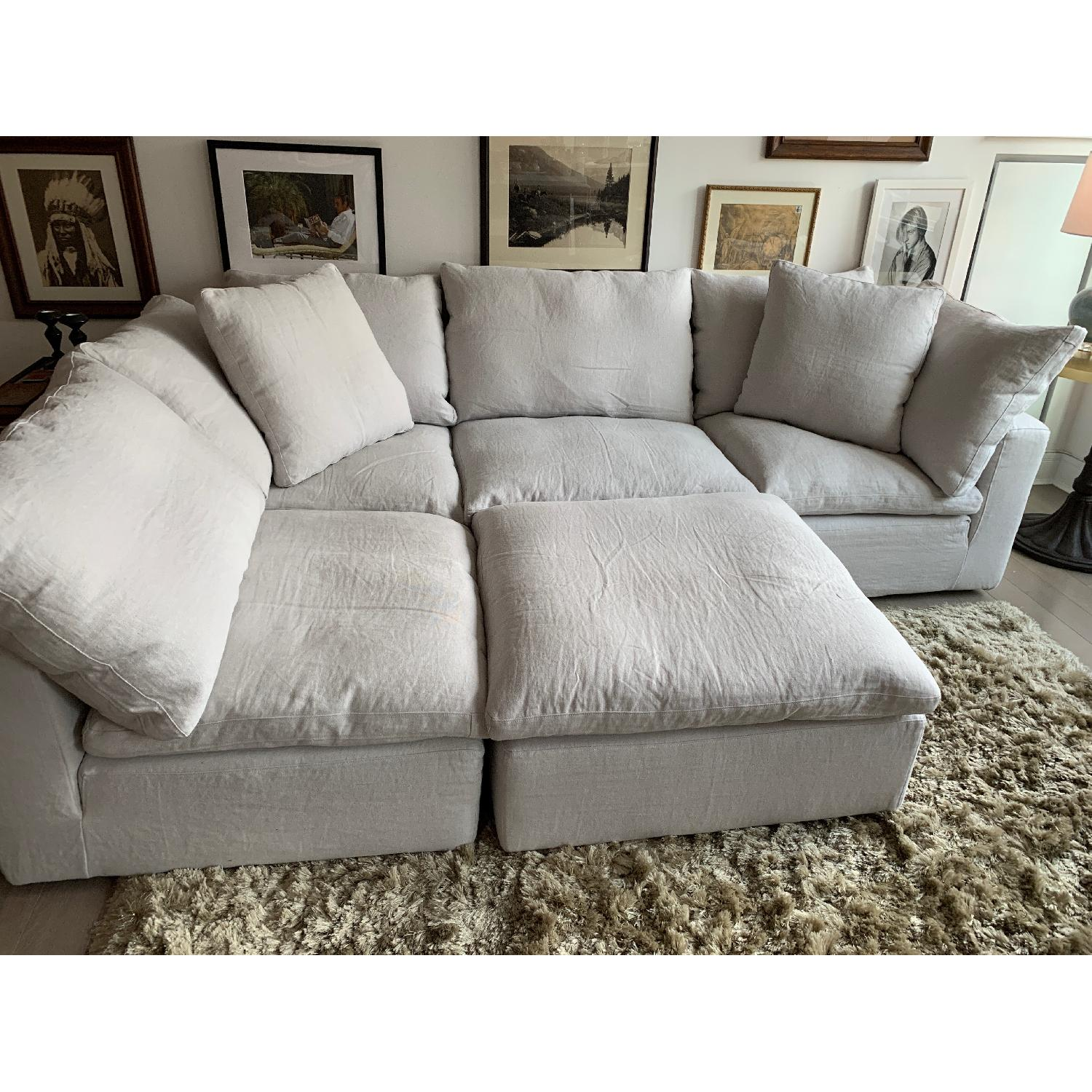 Super Restoration Hardware Cloud Modular Chaise Sectional Ottoman Caraccident5 Cool Chair Designs And Ideas Caraccident5Info