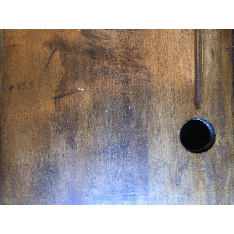 Antique Schoolhouse Desk w/ Inkwell & Shelf - image-4
