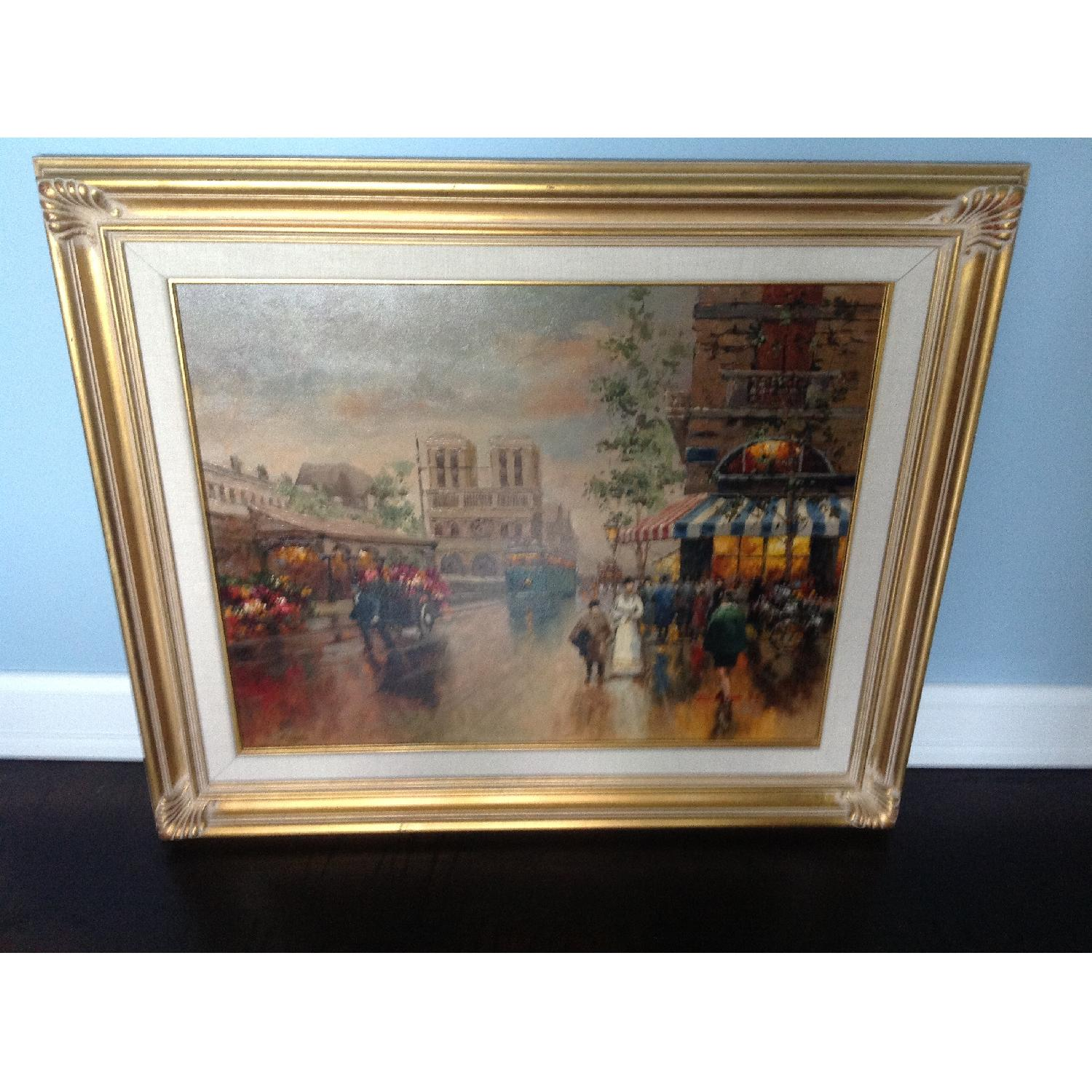 Painting of a French Street Scene - image-1