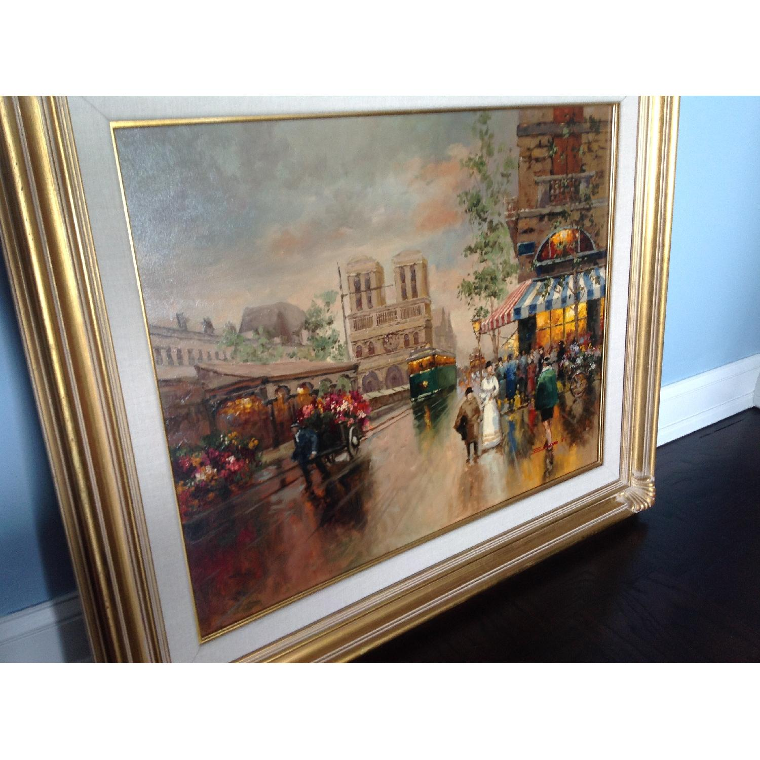 Painting of a French Street Scene - image-3