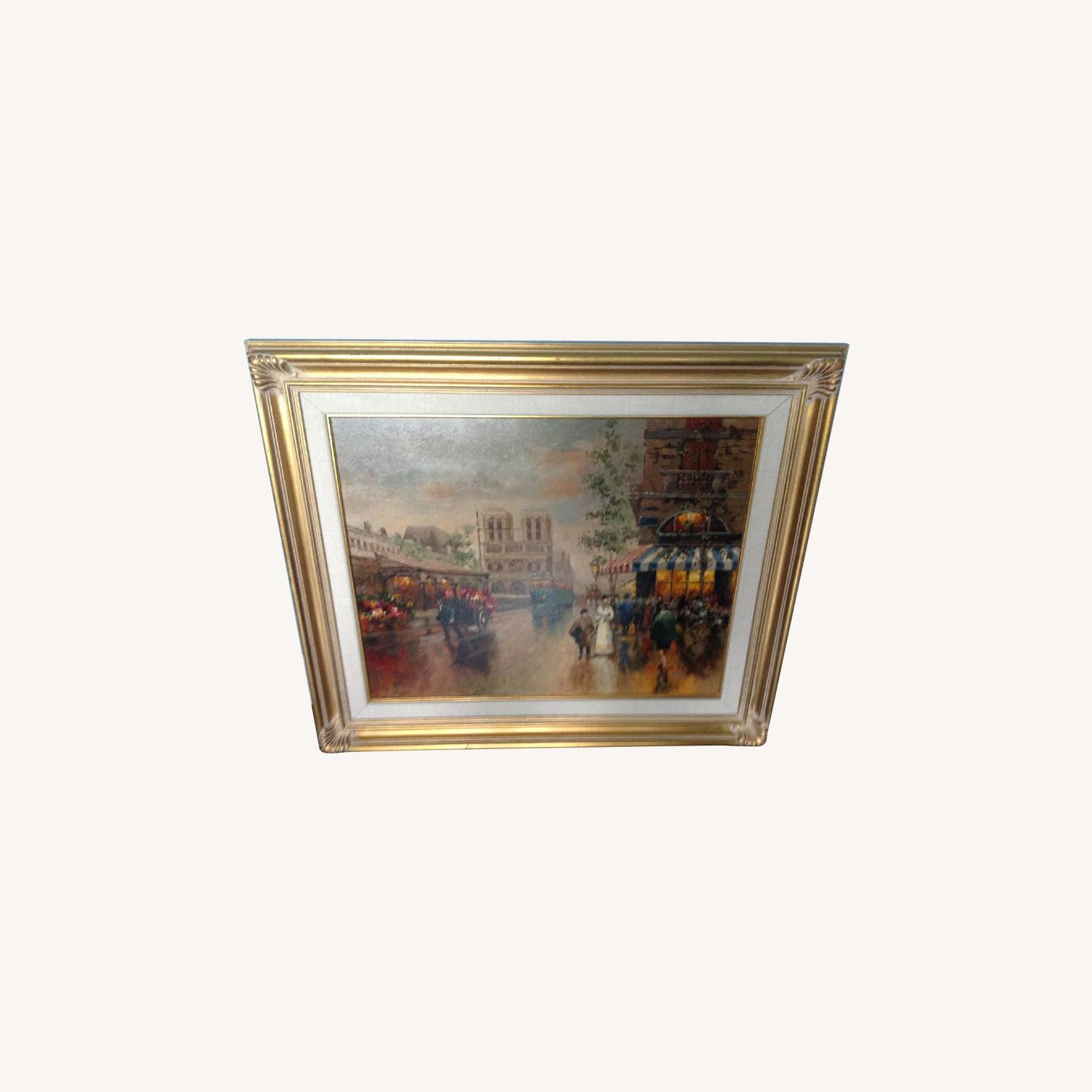Painting of a French Street Scene - image-0