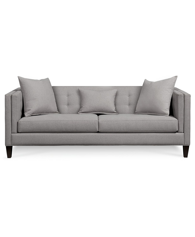 Macy's Braylei Grey Fabric Sofa