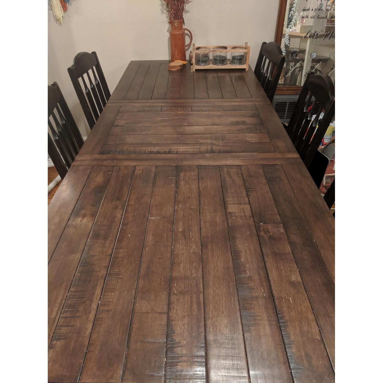World Market Extension Table w/ 5 Chairs - image-1