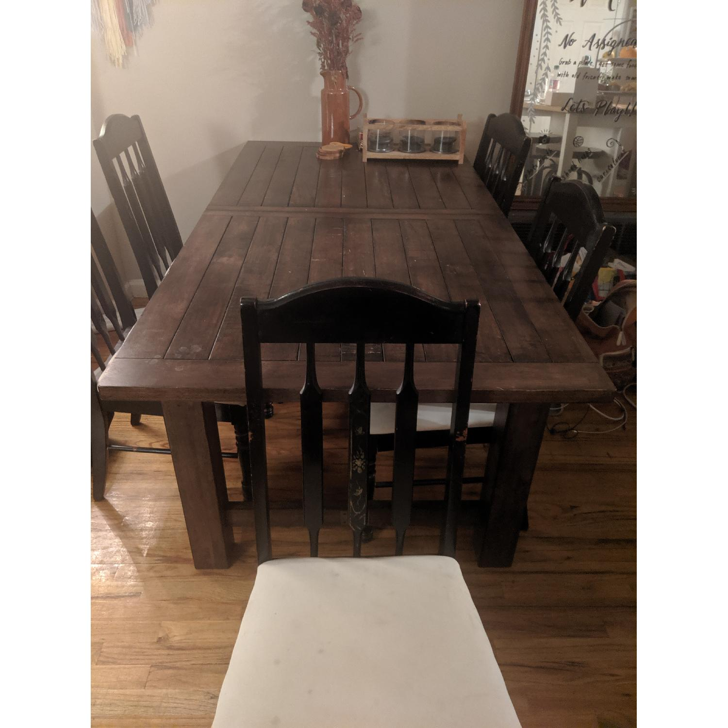 World Market Extension Table w/ 5 Chairs - image-3