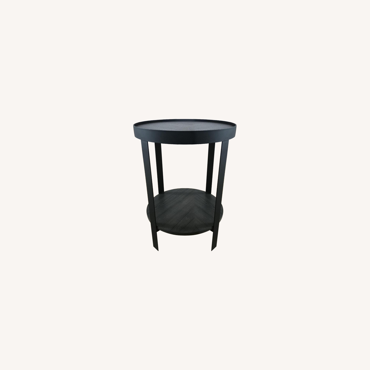 Target Metal & Wood Round Side Table