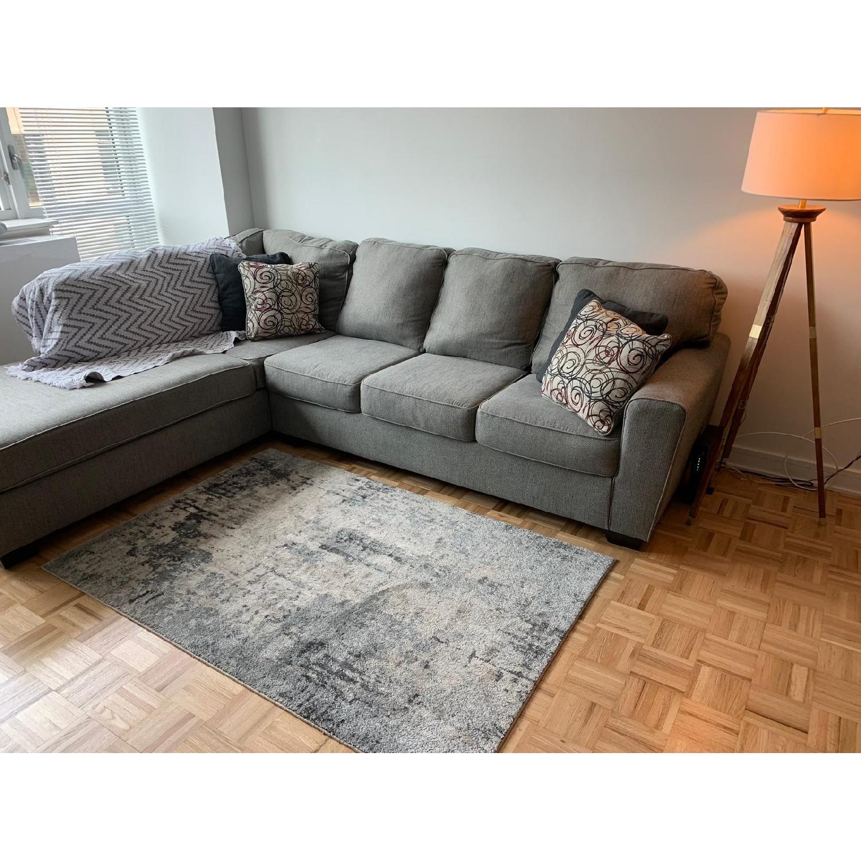 Ashley Larusi Grey 2 Piece Sectional Sofa W Chaise Aptdeco