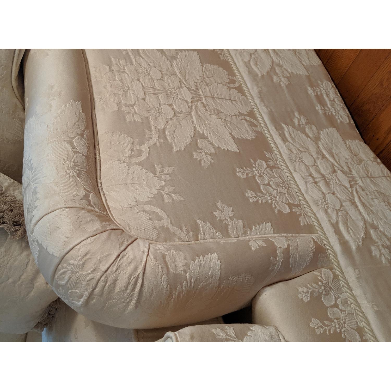Henredon Ivory Brocade Overstuffed Sofa - image-5