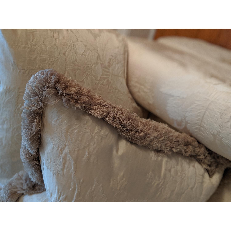 Henredon Ivory Brocade Overstuffed Sofa - image-7