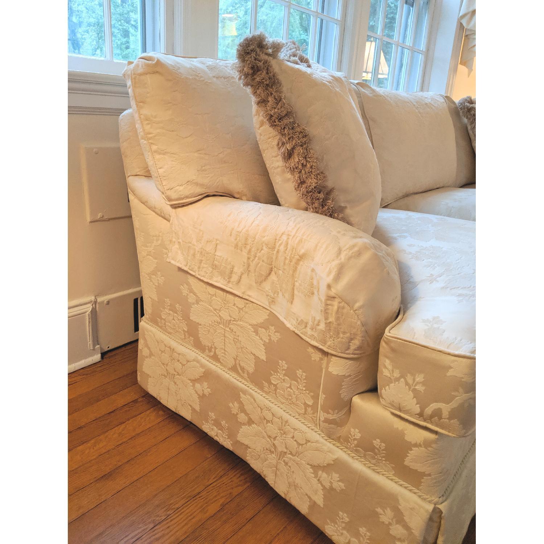 Henredon Ivory Brocade Overstuffed Sofa - image-9