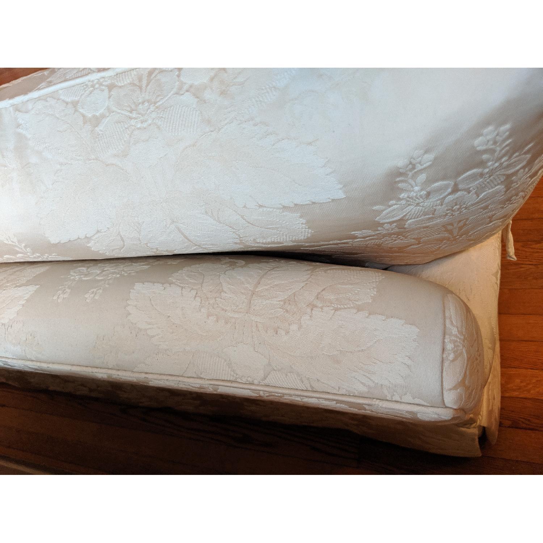 Henredon Ivory Brocade Overstuffed Sofa - image-11