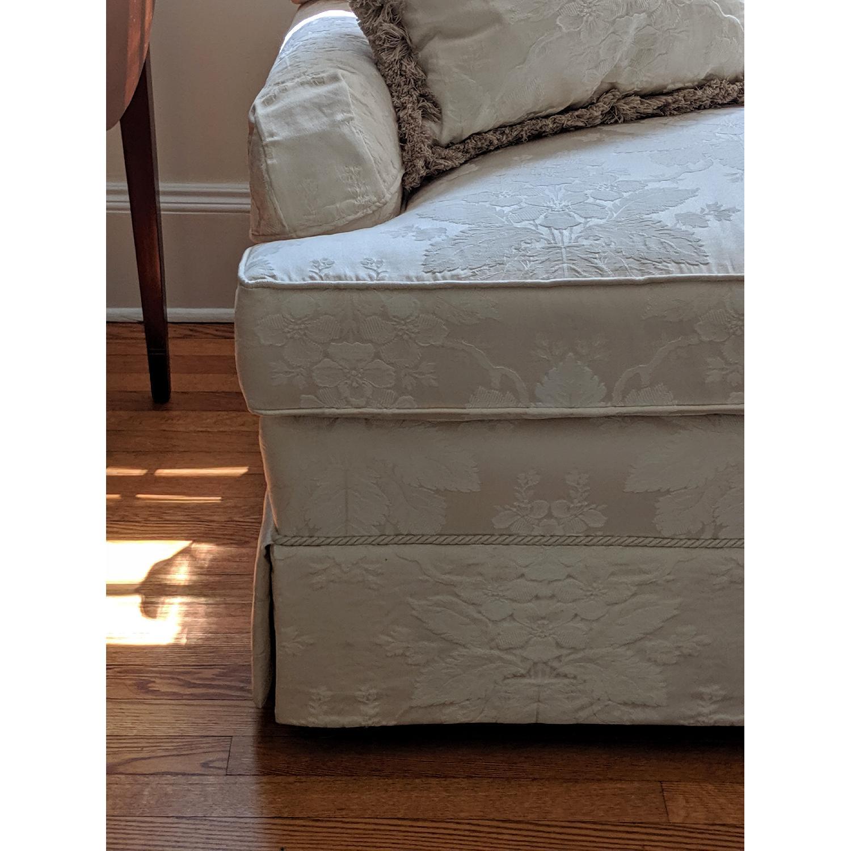 Henredon Ivory Brocade Overstuffed Sofa - image-8