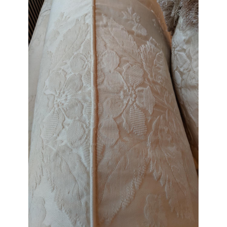 Henredon Ivory Brocade Overstuffed Sofa - image-12