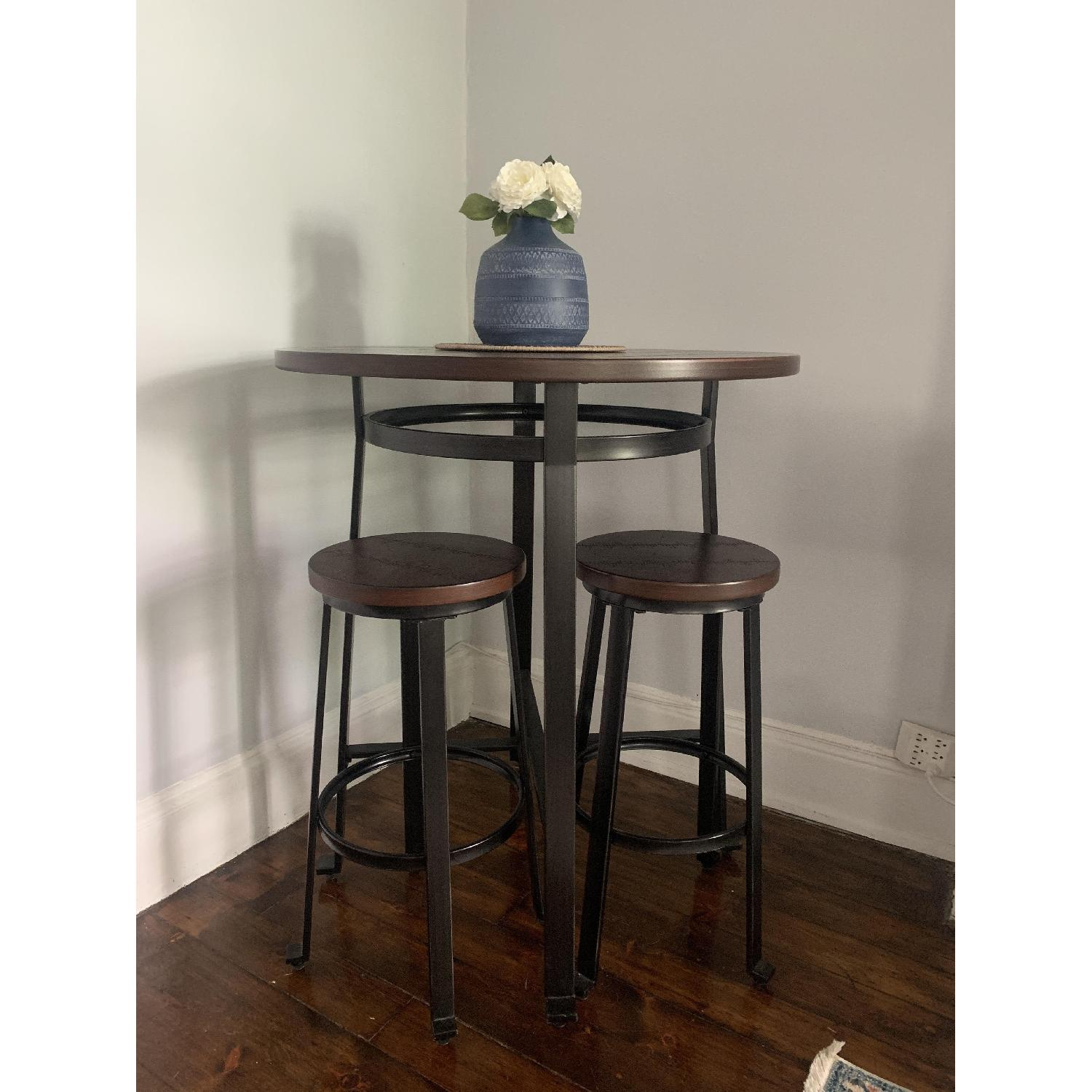 Ashley Challiman Pub Height Dining Table w/ 4 Stools - image-1