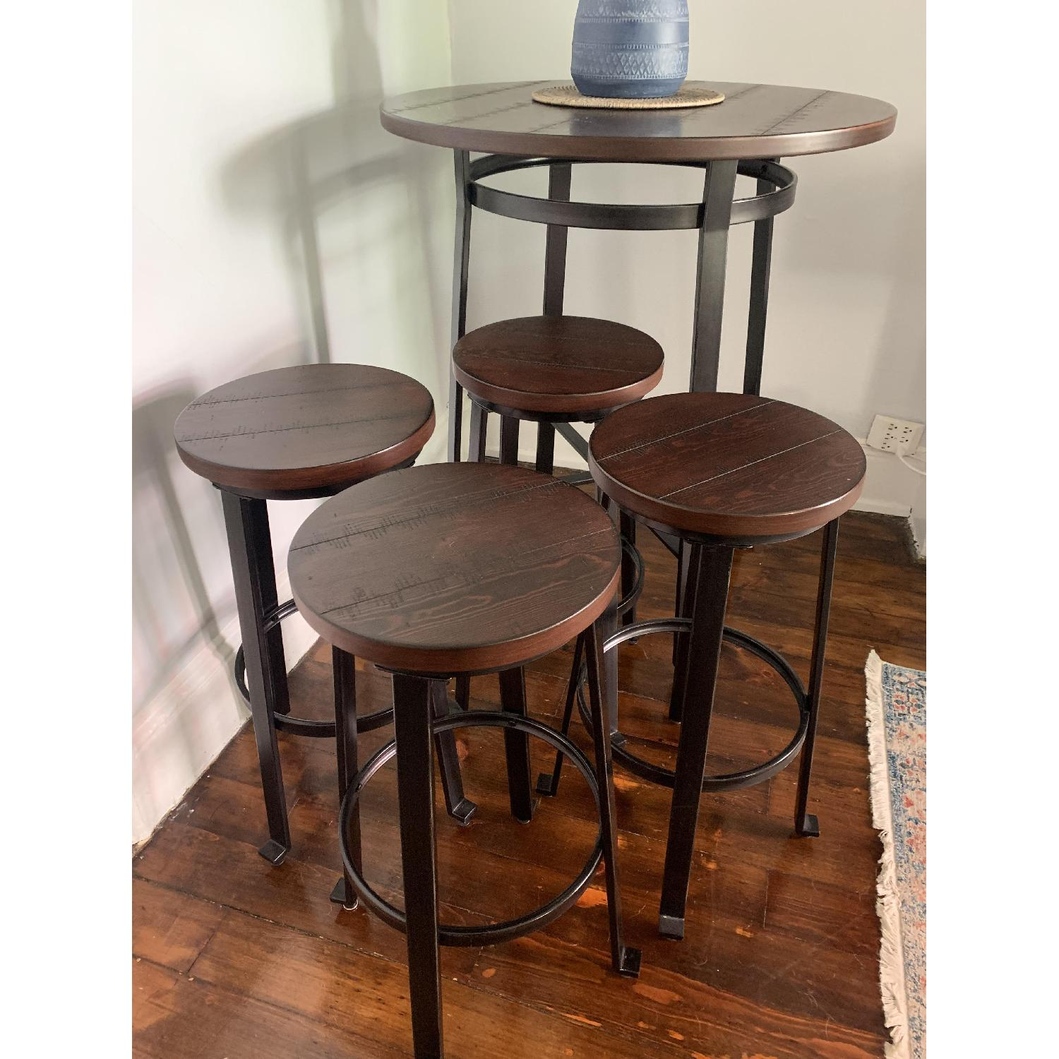 Ashley Challiman Pub Height Dining Table w/ 4 Stools - image-4