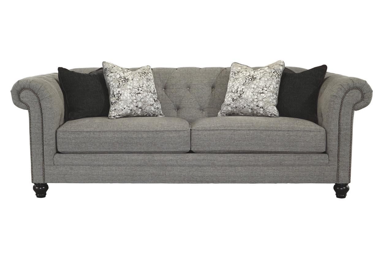 Ashley Zarina Grey Fabric Sofa