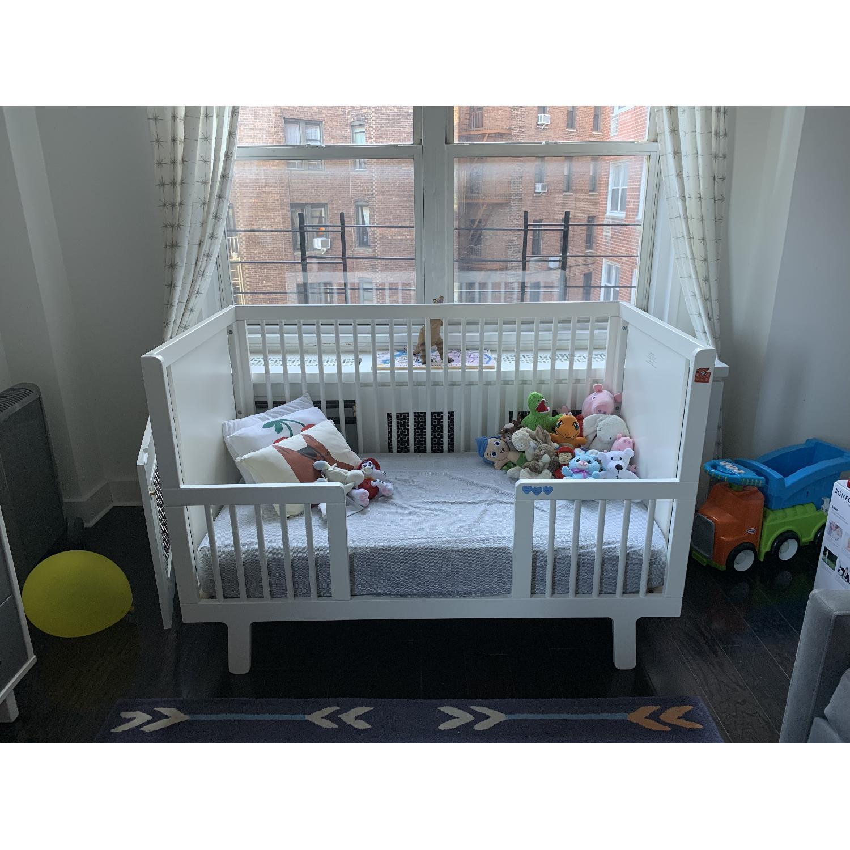 Oeuf Sparrow Crib w/ Toddler Conversion Kit - image-1