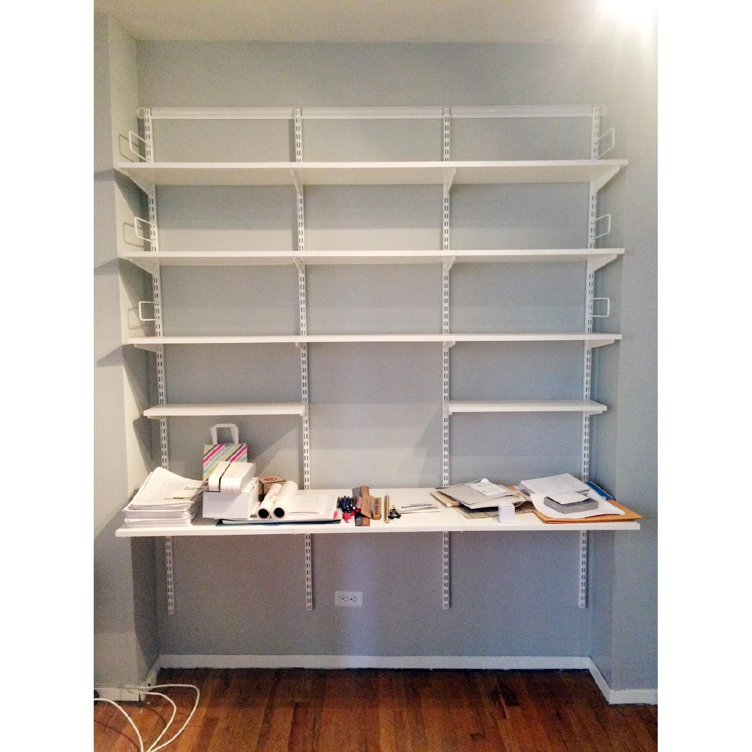Container Store Elfa Desk and Bookshelf Components - image-2