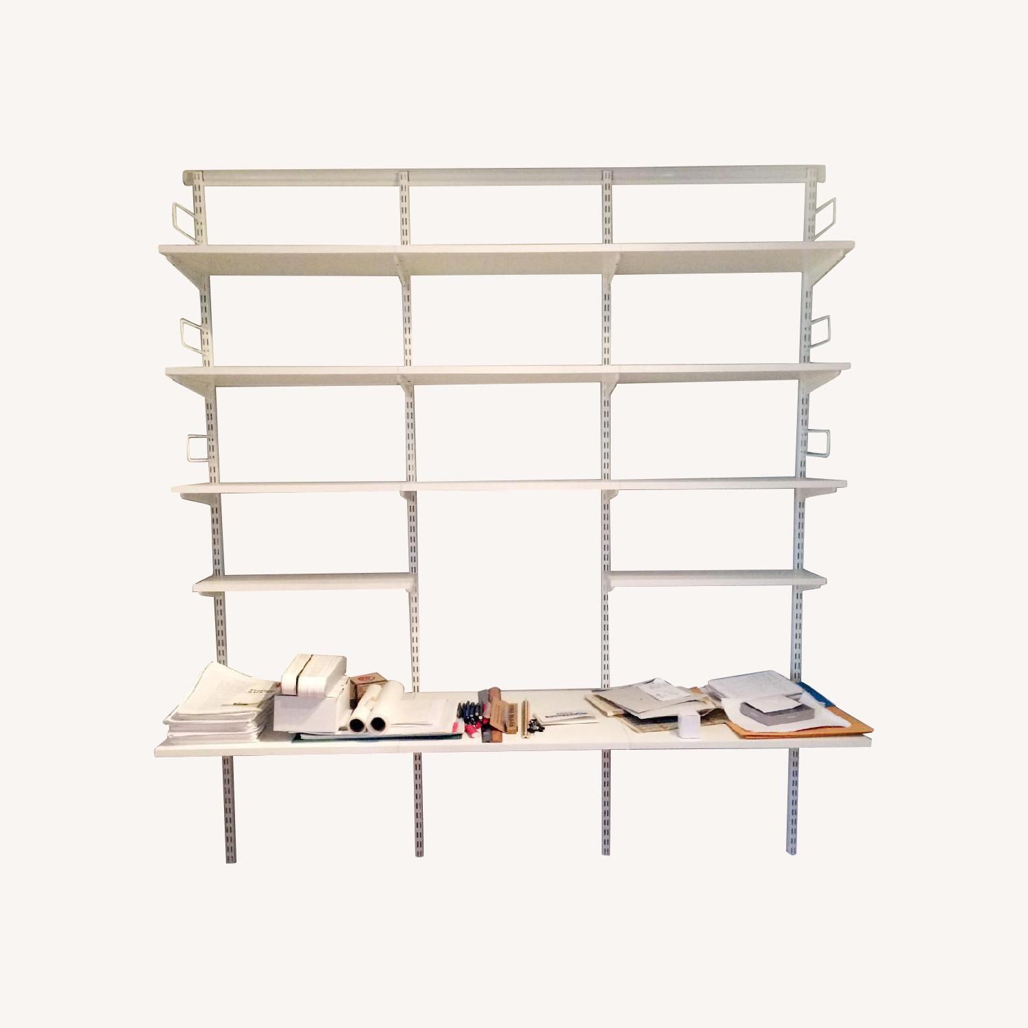 Container Store Elfa Desk and Bookshelf Components - image-0