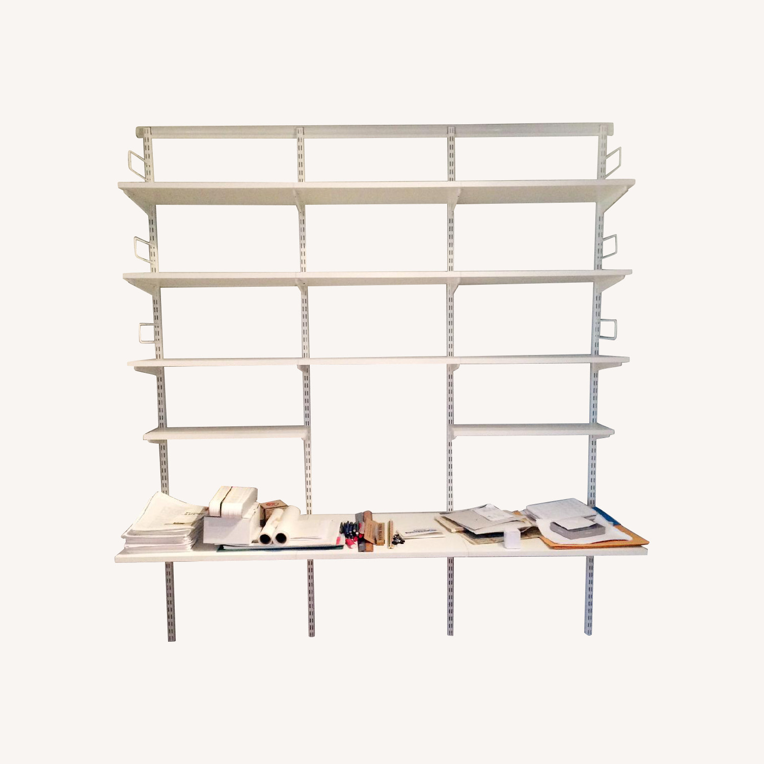 Container Store Elfa Desk and Bookshelf Components