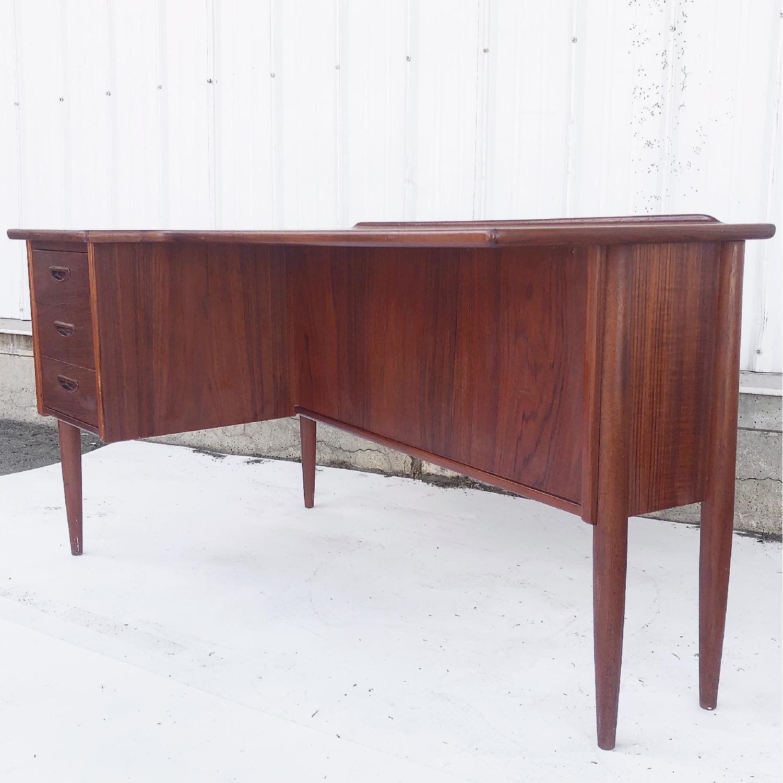 Arne Vodder Scandinavian Modern Teak Desk - image-2