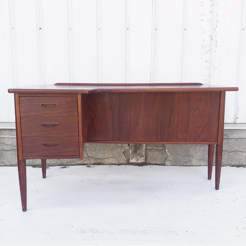 Arne Vodder Scandinavian Modern Teak Desk - image-1