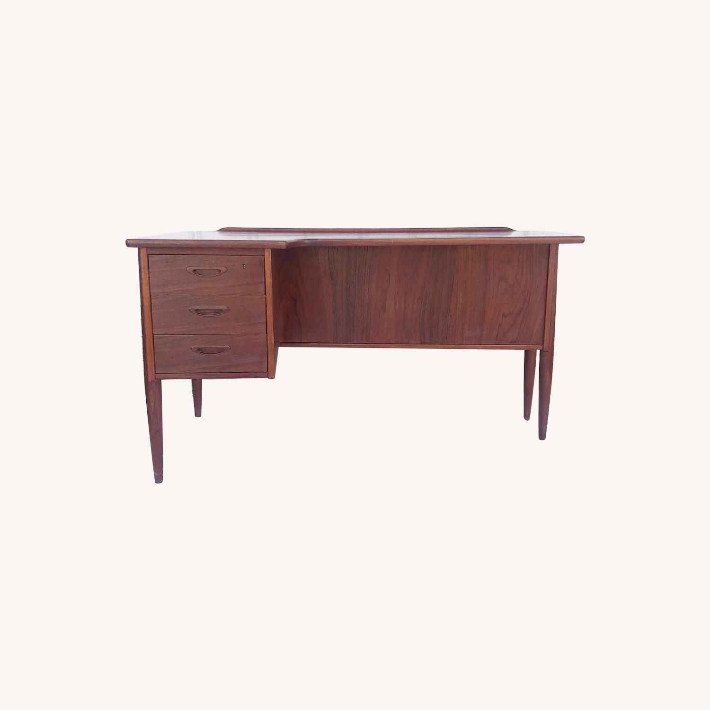 Arne Vodder Scandinavian Modern Teak Desk - image-0
