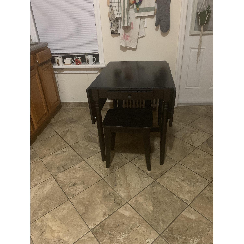 Ikea Ingatorp Black-Brown Drop-Leaf Table - image-1