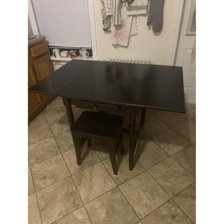 Ikea Ingatorp Black-Brown Drop-Leaf Table - image-3
