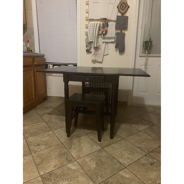 Ikea Ingatorp Black-Brown Drop-Leaf Table - image-5