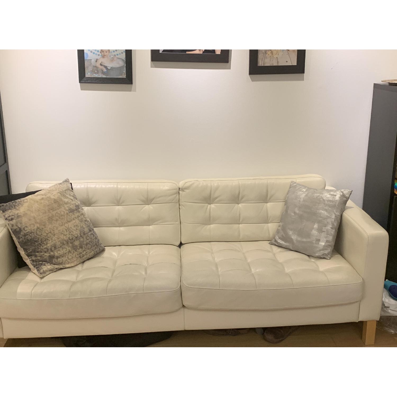 Phenomenal Ikea Landskrona White Leather Sofa Aptdeco Ibusinesslaw Wood Chair Design Ideas Ibusinesslaworg