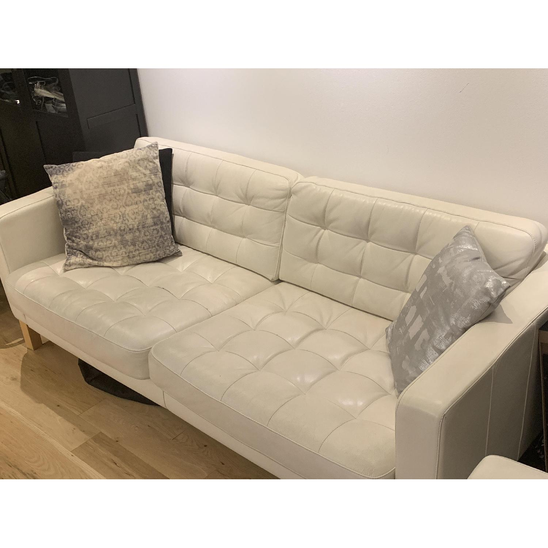 Miraculous Ikea Landskrona White Leather Sofa Aptdeco Ibusinesslaw Wood Chair Design Ideas Ibusinesslaworg