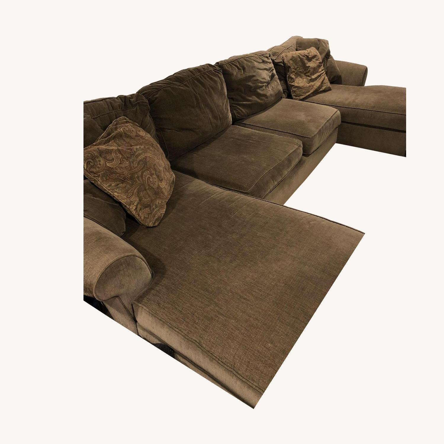Raymour & Flanigan 3-Piece Sectional Sofa w/ 2 Chaises - image-0