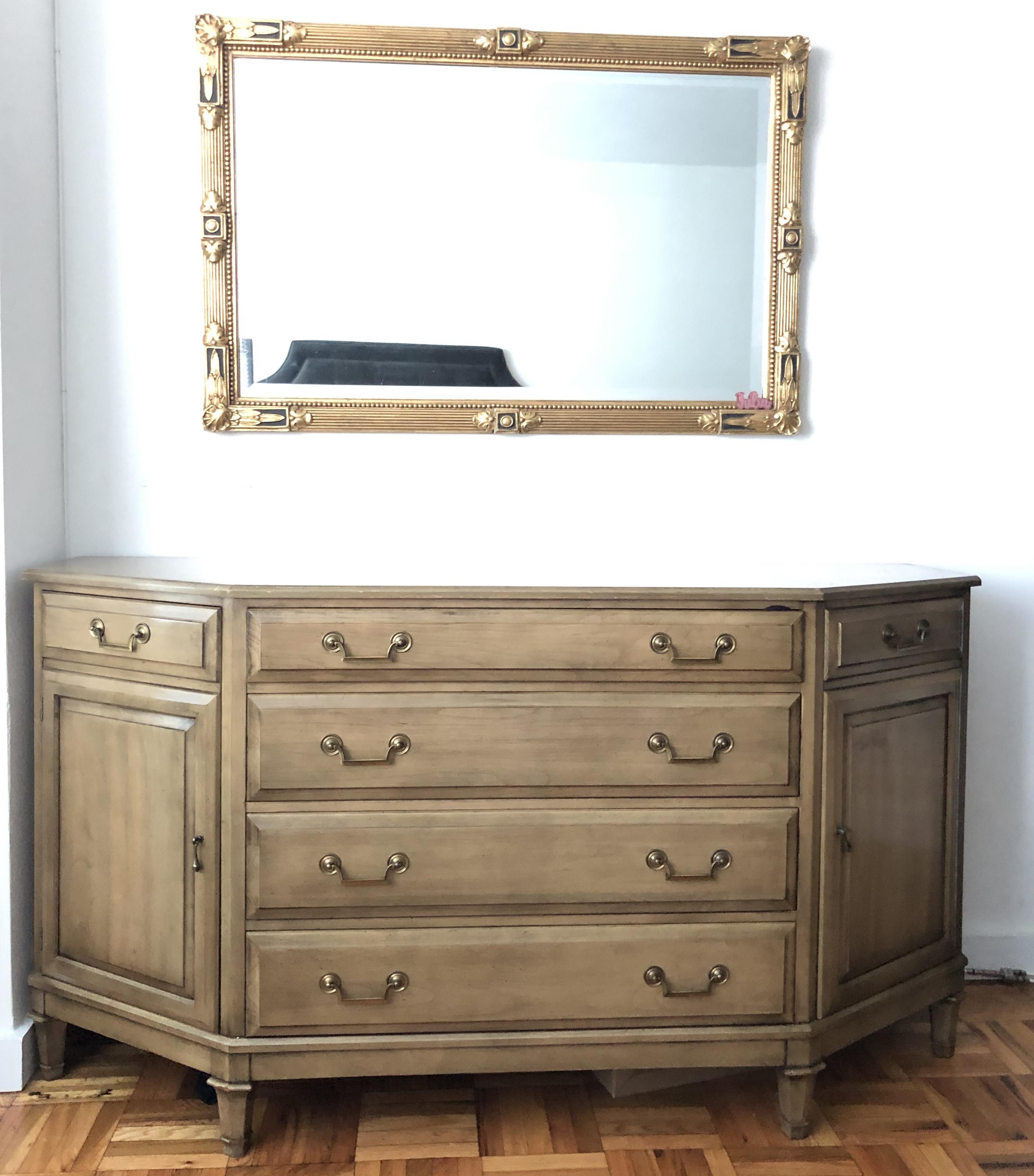 Antique Dresser w/ Brushed Gold Hardware