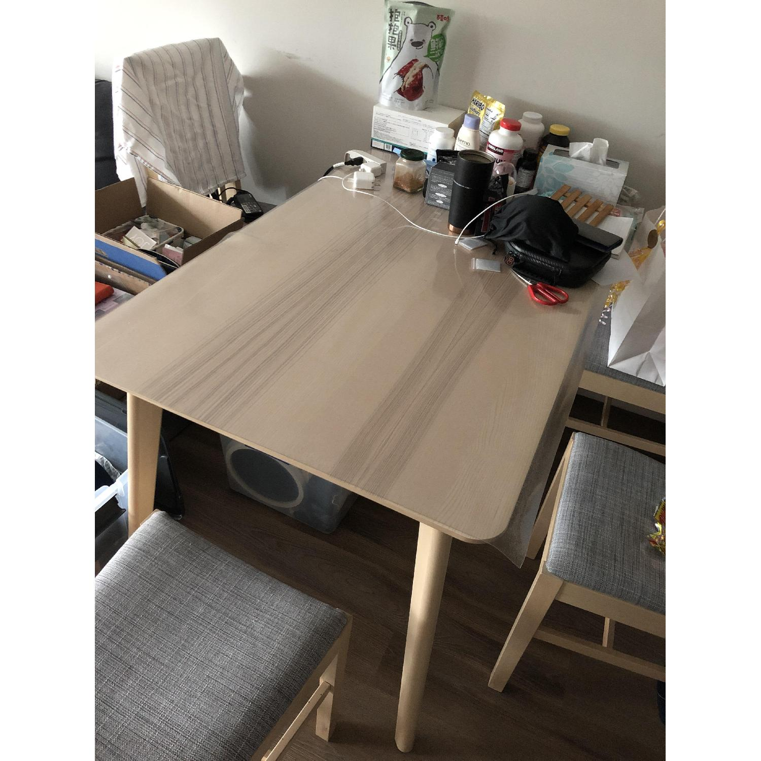 Ikea Lisabo Dining Table w/ 4 Norrnas Chairs - image-3