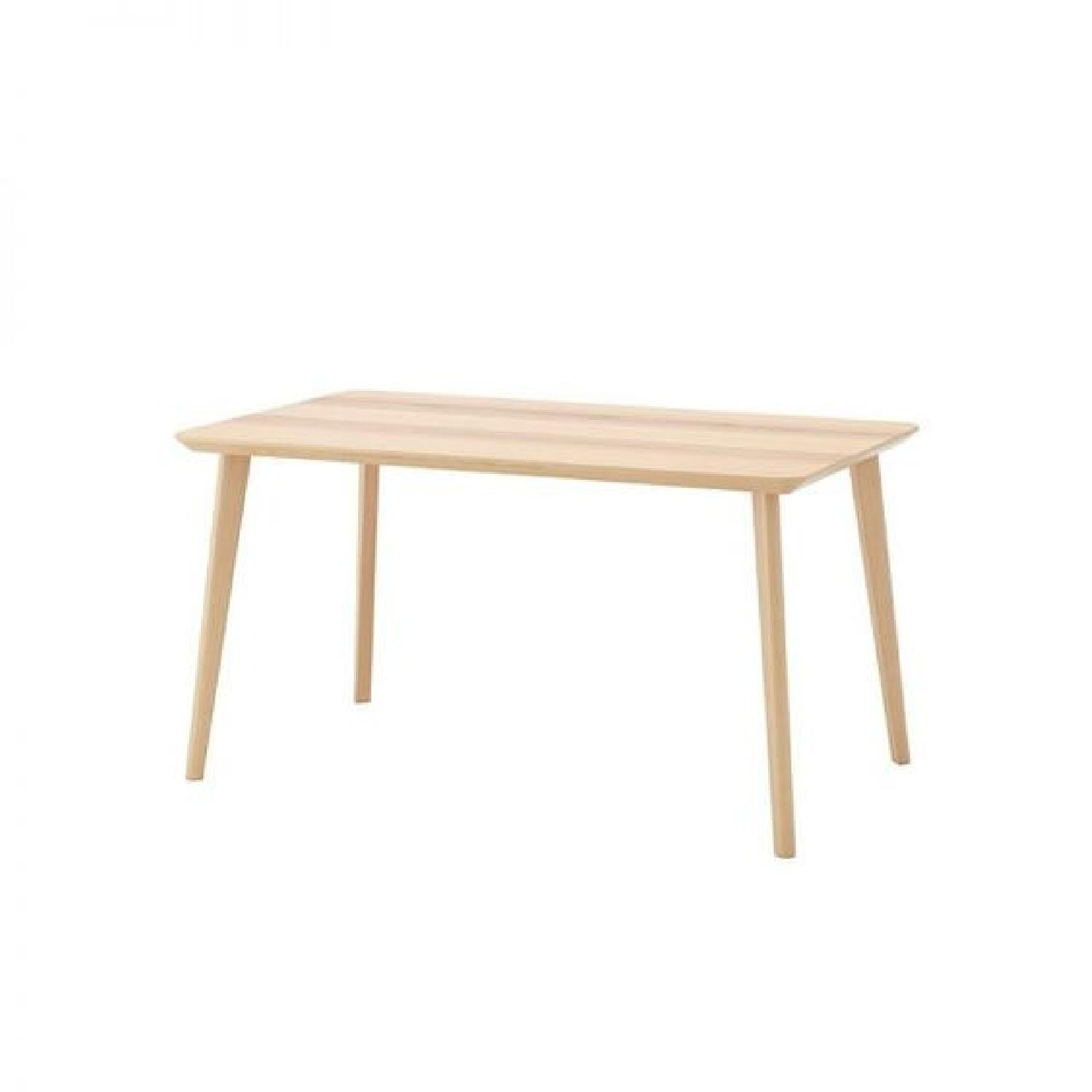 Ikea Lisabo Dining Table w/ 4 Norrnas Chairs - image-0