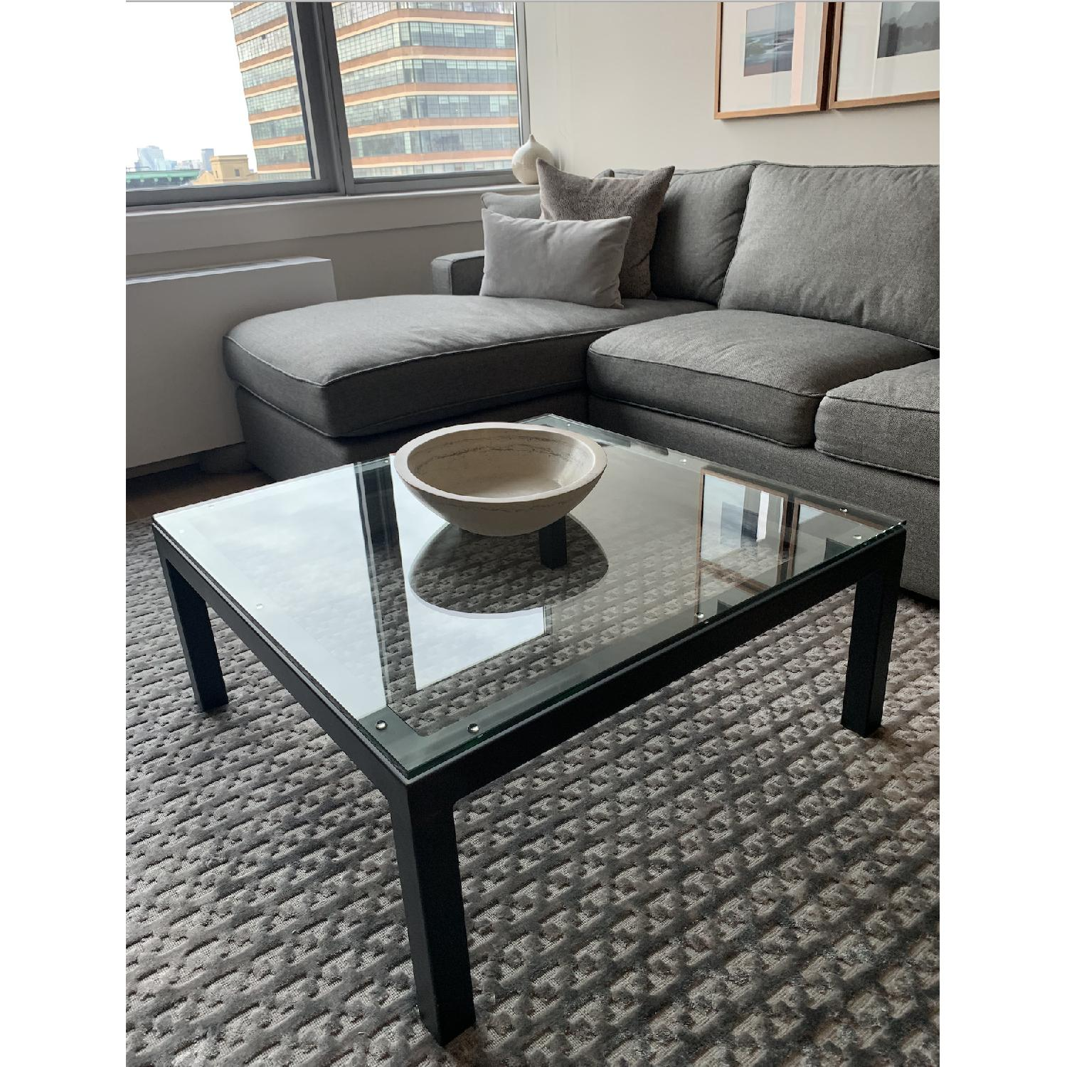 Room & Board Parsons Glass Coffee Table - image-3