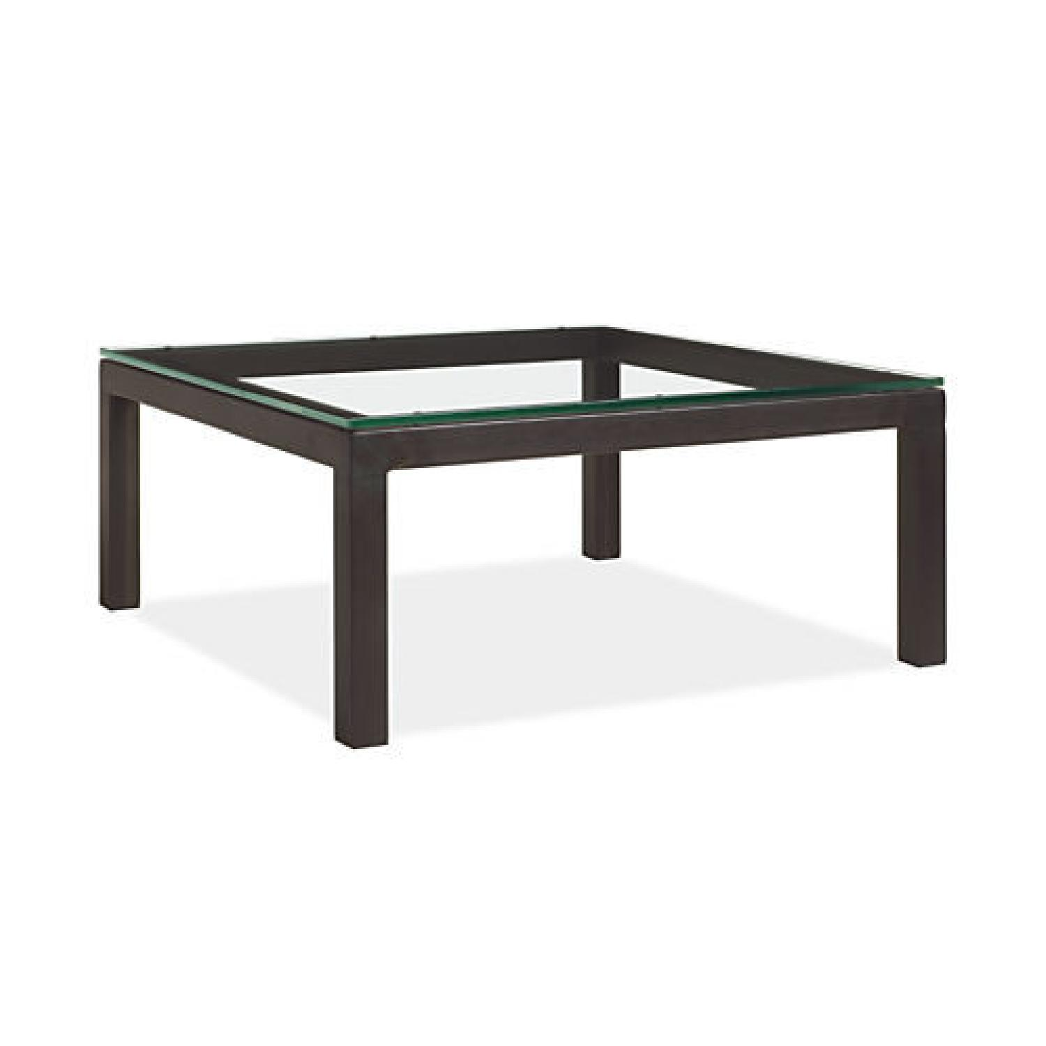 Room & Board Parsons Glass Coffee Table - image-0