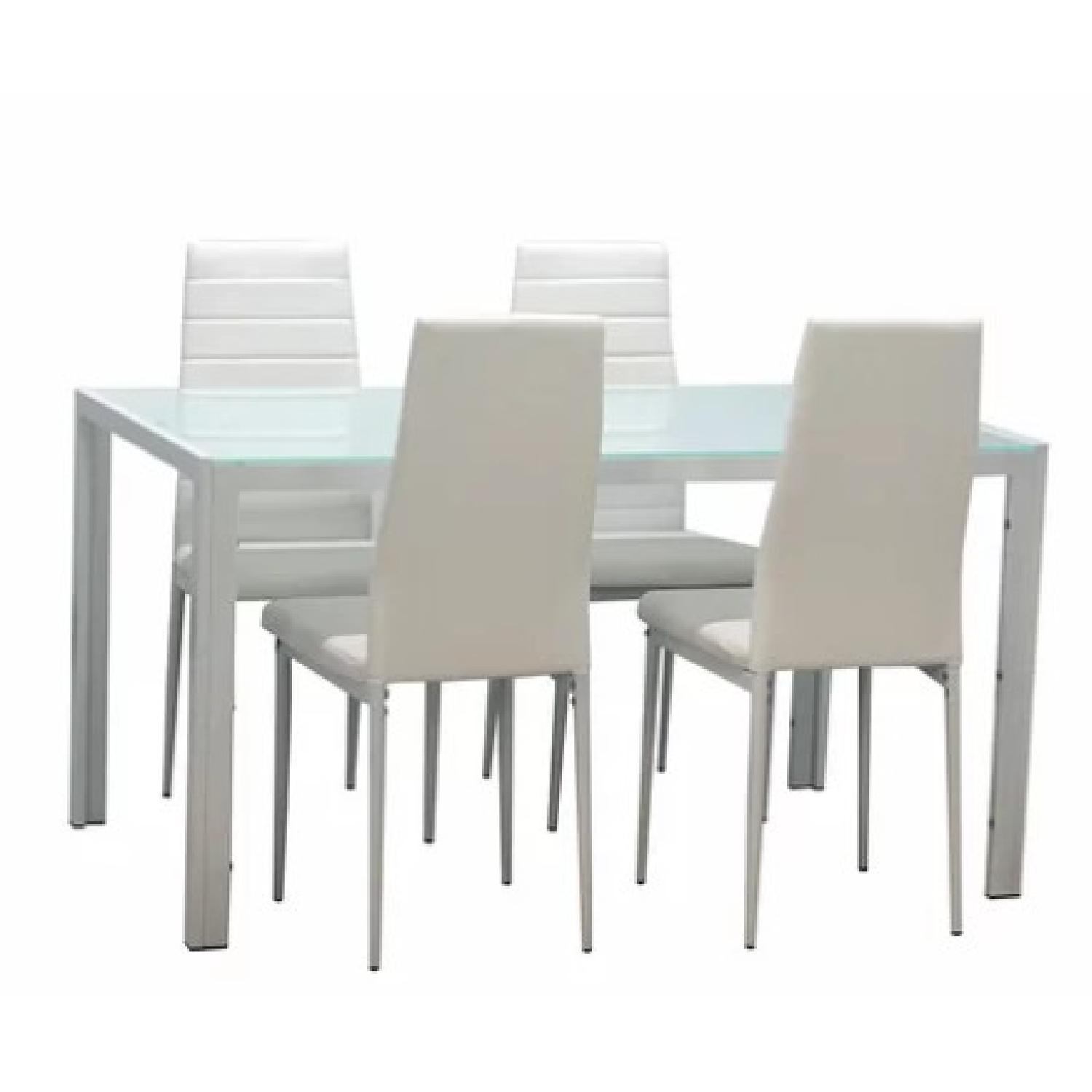 Holice Compact Modern White Dining Table - image-0