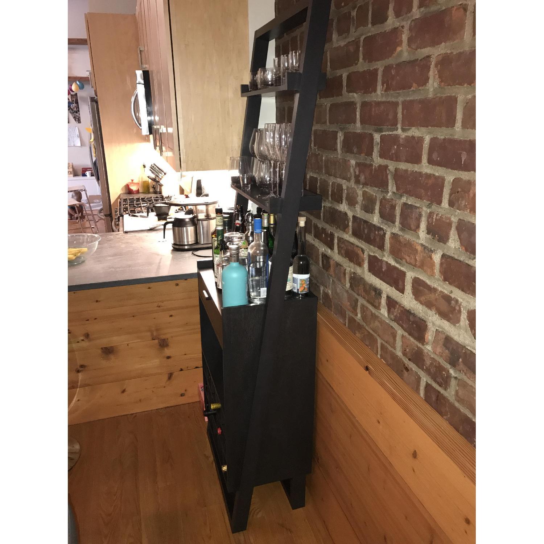 Crate & Barrel Leaning Bar Storage Unit - image-3