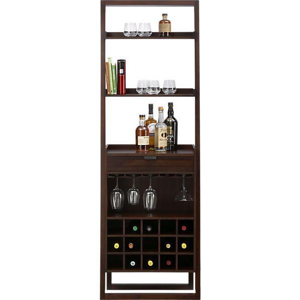 Crate & Barrel Leaning Bar Storage Unit