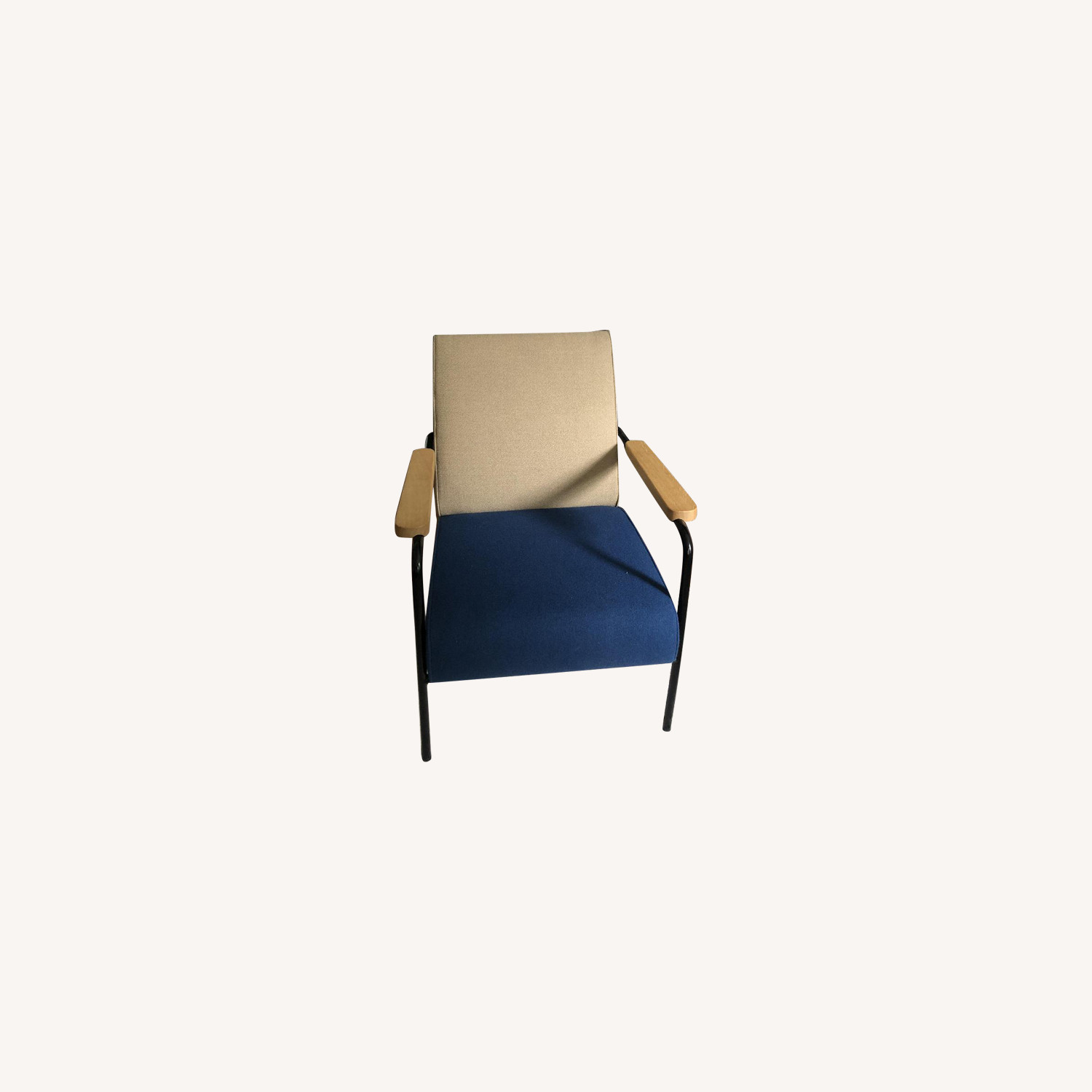 Vitra Navy Twill Arm Chair