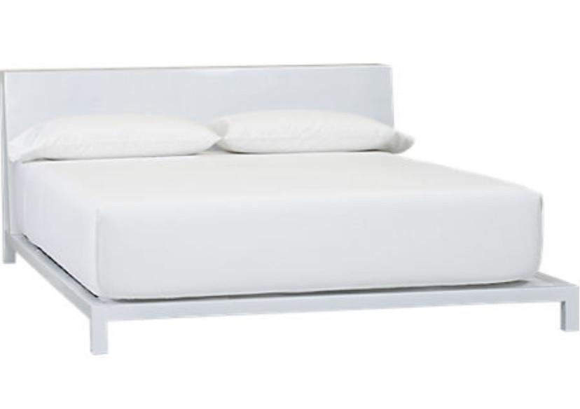 CB2 White Alpine Queen Bed Frame