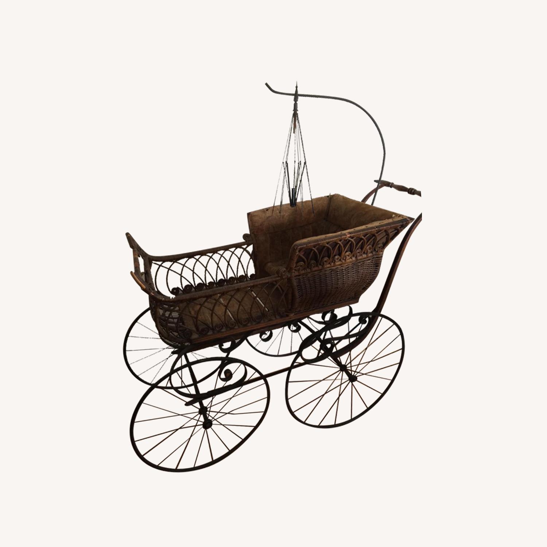 Antique Wicker Baby Csrriage
