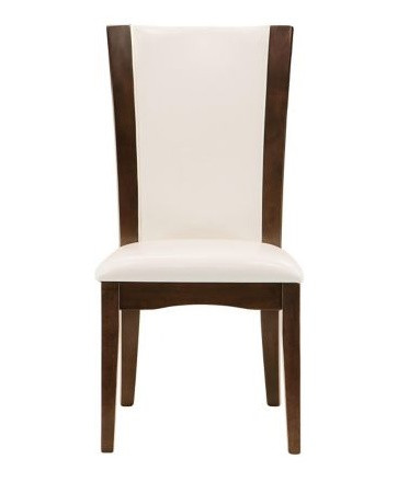 Raymour & Flanigan White Leather Dining Chair