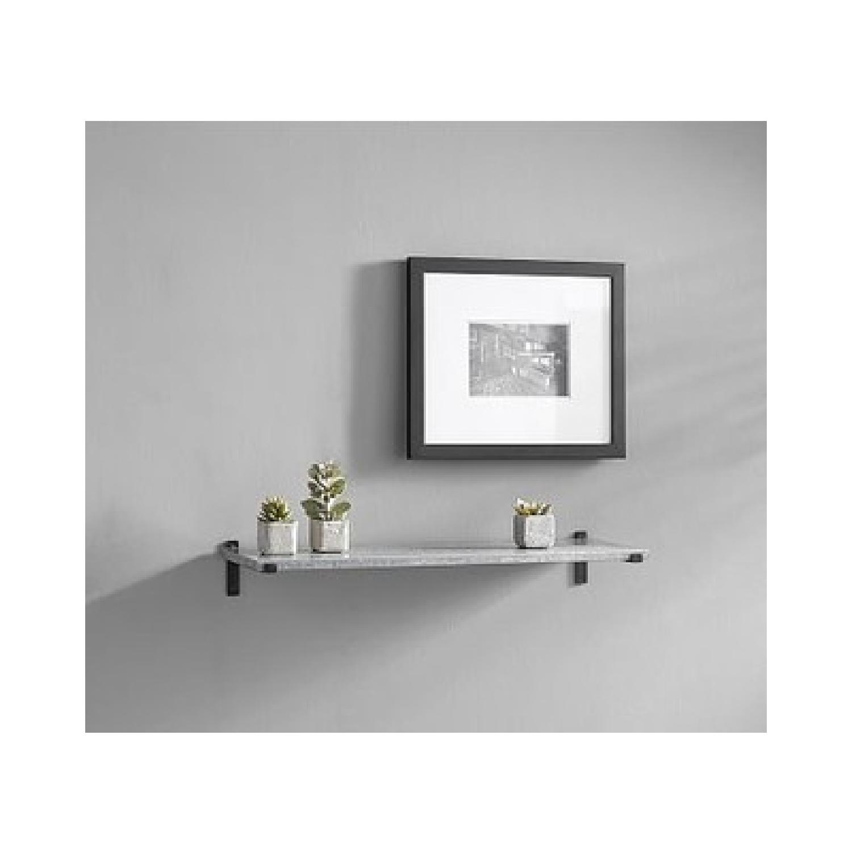 Pottery Barn Galvanized Shelves - image-1