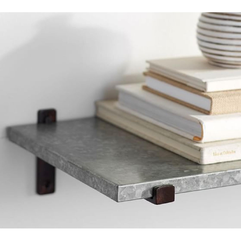 Pottery Barn Galvanized Shelves - image-2